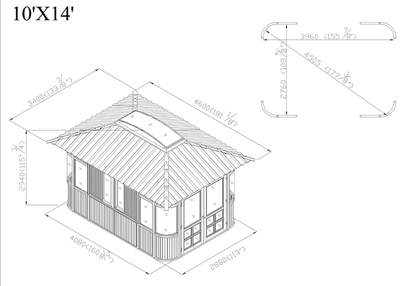 gazebo elevation drawing